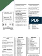 Thermoguard up t Microprocessor diagnosis Manual