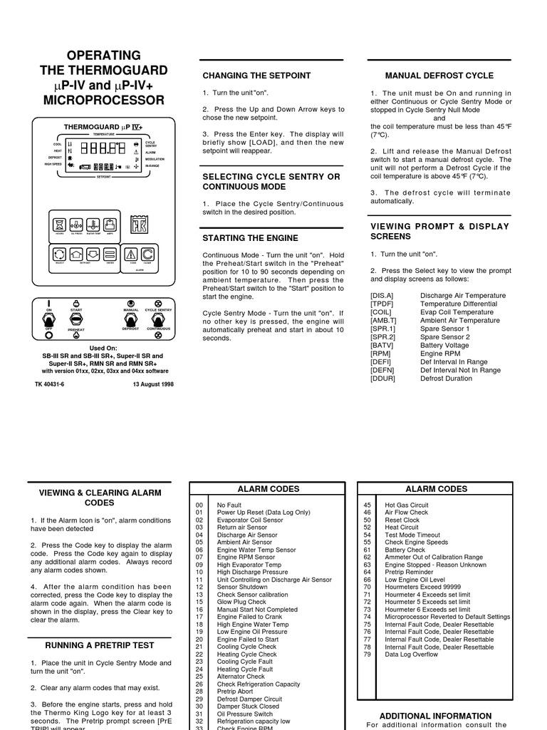 Thermoguard Up IV Microprocessor[1] | Engines | Hvac