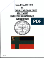Offical DECLARATION of Express Non Statutory Trust Agree Under Common Law  001