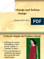 Cultural Change and Fashion Change