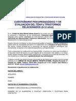 CUESTIONARIO TDA PARA PROFESORES (6 A 12 AÑOS)