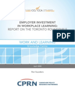 Organizational Investment in Workplace Learning
