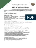Plan de Clase de Abril Ciencias Sociales de Octavo