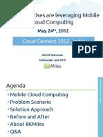 Mobile Cloud Computing using AWS