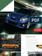 Brochure toyota  Matrix 2009