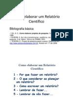 Como elaborar um Relatório Científico [Modo de Compatibilidade]
