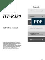 Onkyo HT R380 Manual