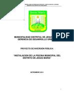 Perfil Piscina Jesus Maria. Oct 2011