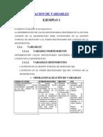 Operativizacion de Variables