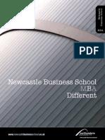 Newcastle Business School MBA Brochure