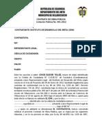Munita contrato 001 de 2012