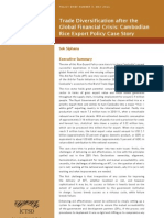 Trade Diversification After the Global Financial Crisis Cambodian Rice Export Policy Case Study