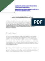 Las Operaciones Bancarias Activas
