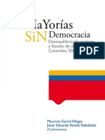 Mayorías sin democracia. Desequilibrio de poderes y Estado de derecho[1]