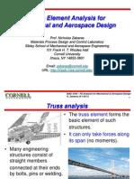 Direct Method Truss Analysis Matrice Di Rigidezza Composizione