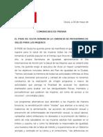 PSOE denuncia la carencia de programas de salud para las mujeres en Ceuta
