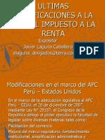 ULTIMAS MODIFICACIONES A LA LEY DEL IMPUESTO A LA RENTA - Dr. Laguna - Exposición