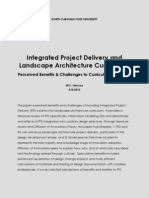 Integrated Project Delivery and Landscape Architecture Curriculum
