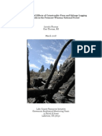 Effects of Catastrophic Fires and Salvage Logging on Forest Soils in the Fremont