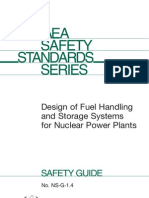 IAEA SAFETY STANDARDS SERIES - Design of Fuel Handling And Storage Systems For Nuclear Power Plants