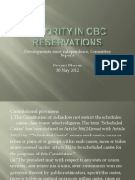 Minority in Obc Reservations