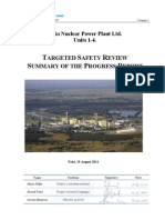 Targeted Safety Review Summary of the Progress Report