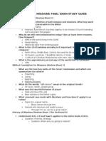 Final Exam Study Guide Winter 2012