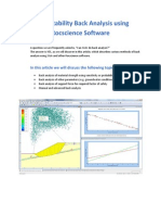 Slope Stability Back Analysis Methods Using Rocscience Software