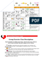 June 2012 Group Fitness Schedule