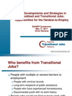 New Developments and Strategies in Subsidized and Transitional Jobs:Opportunities for the Hardest-to-Employ