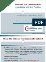 Enhanced Transitional Jobs DemonstrationProgram Implementation and Best Practices