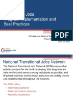 Transitional JobsProgram Implementation and Best Practices