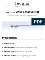 How to Write a Manuscript Get Your Paper Accepted