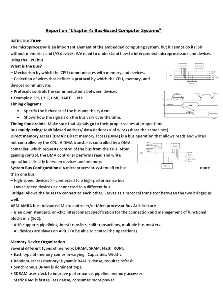 Report On Chapter 4 Bus Based Computer Systems Random Access The Device S Spi Timing Diagram We Want To Handle Memory Embedded System