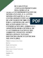 AMPARO DE GARANTÍAS CONSTITUCIONALES DONOSO