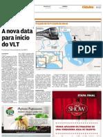 Trecho do VLT entre Santos e São Vicente sairá do papel em setembro de 2012