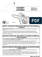 Hitachi Chain Saw Manual