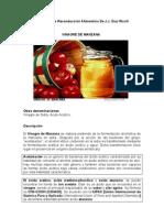 Informe de Invetigación - Vinagre de Manzana _Vinagre de Sidra, Ácido Acético_