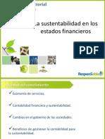 La Sustentabilidad en los Estados Financieros