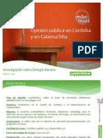 Opinión pública en Córdoba y Calamuchita sobre Energía Nuclear