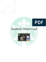 Starbucks Duetto Card