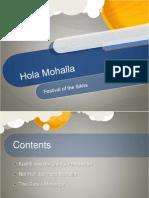 Hola Mohalla Presentation