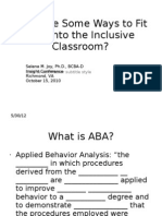 ABA and Inclusion Ppt Handout