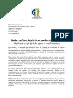 Ortiz confirma iniciátivas producirán rebajas(Defiende tarifa fija de agua a residenciales)