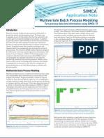 SIMCA 13 Multivariate Batch Process Modeling