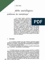 O inquérito sociológico-problemas da metodologia