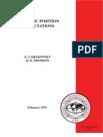 Geodetic Positions Computations, Krakiwsky & Thomson