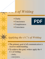 Four Cs of Writing