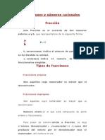 Fracciones y números racionales