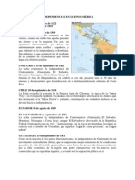 Independencias en Latinoamérica